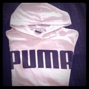 White Puma Lightweight Hoodie